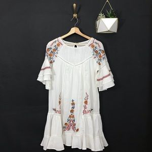 NWT FREE PEOPLE Pavlo Embroidered Dress White